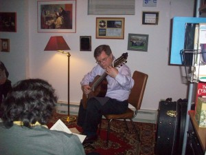 George Playing at House Concert