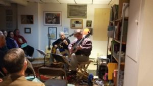 Frank Dalzell and George Pleat performing at a house Concert - November 3, 2018